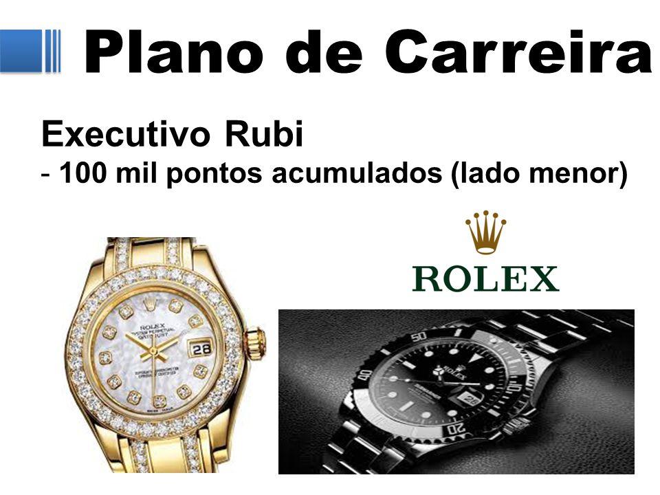 Plano de Carreira Executivo Rubi - 100 mil pontos acumulados (lado menor)