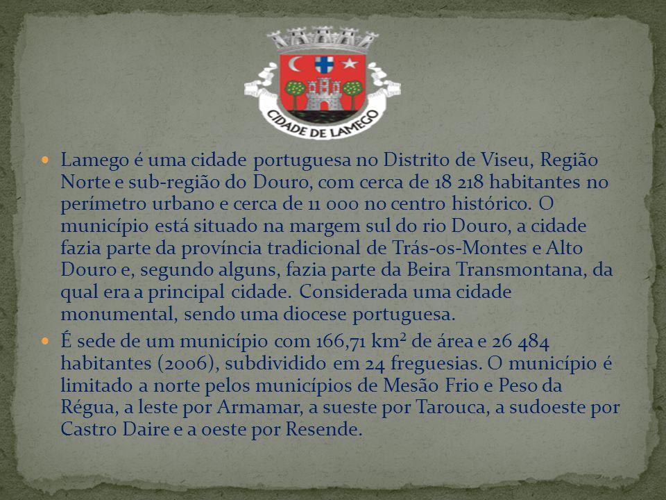 Lamego é uma cidade portuguesa no Distrito de Viseu, Região Norte e sub-região do Douro, com cerca de 18 218 habitantes no perímetro urbano e cerca de