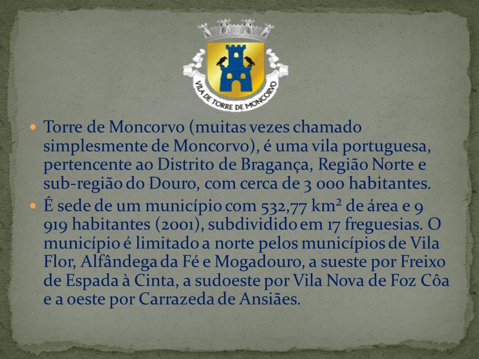 Torre de Moncorvo (muitas vezes chamado simplesmente de Moncorvo), é uma vila portuguesa, pertencente ao Distrito de Bragança, Região Norte e sub-regi