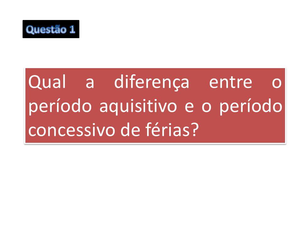 Qual a diferença entre o período aquisitivo e o período concessivo de férias?