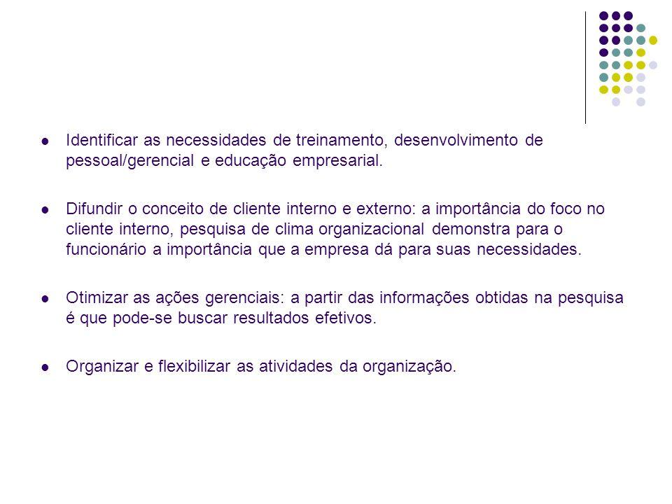 Preparação Divulgação da Pesquisa Plano e metodologia para pesquisa Execução da Pesquisa Conclusões Relatórios PLANO DE AÇÃO Tabulação e Interpretação dos Dados