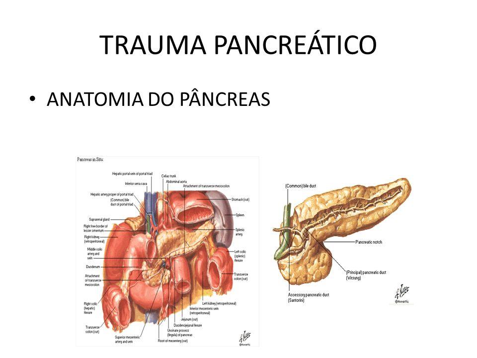 TRAUMA PANCREÁTICO ANATOMIA DO PÂNCREAS