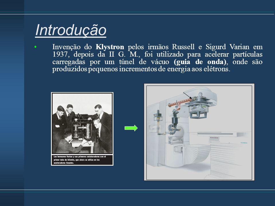 Invenção do Klystron pelos irmãos Russell e Sigurd Varian em 1937, depois da II G. M., foi utilizado para acelerar partículas carregadas por um túnel