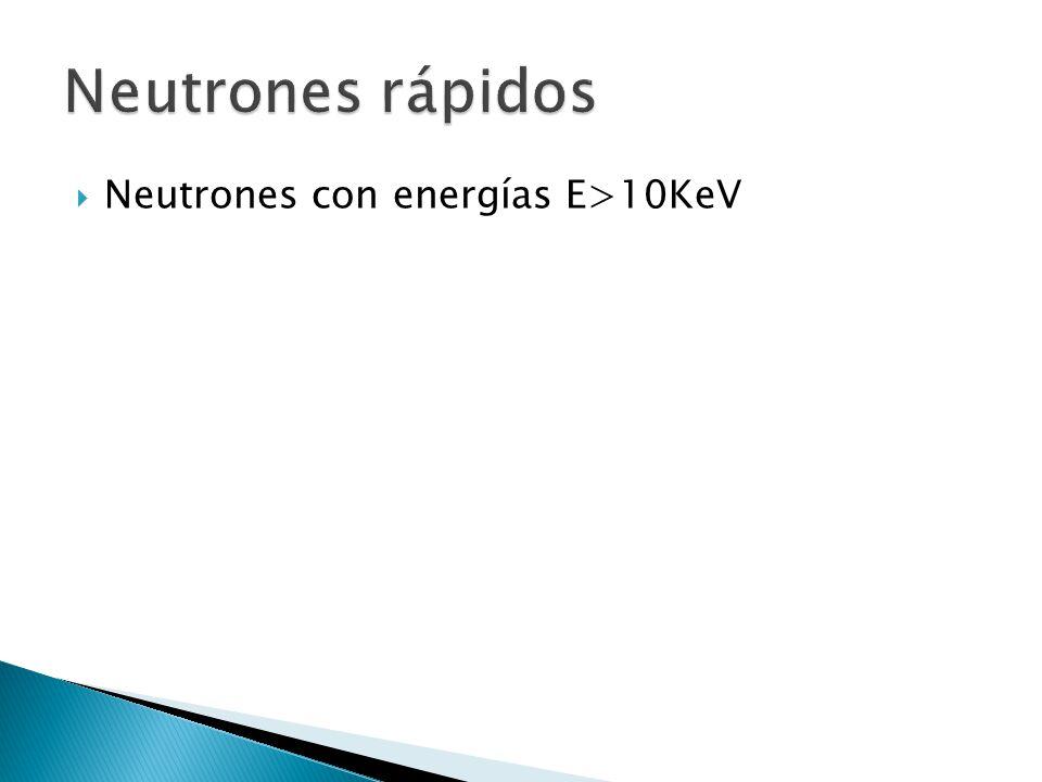  Para neutrones de energía dada, tipo de blanco, y algún tipo de interacción, el Kerma es resultado de la fluencia  (cm -2 ) en un punto en el medio esta dada por:  Donde:   es la sección eficaz de la interacción  Nt es el numero de átomos blanco en la muestra irradiada .m es la masa de la muestra (g)  Etr es la energía cinética total (MeV)