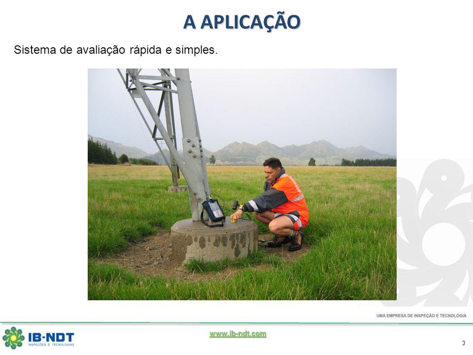 www.ib-ndt.com 3 A APLICAÇÃO Sistema de avaliação rápida e simples.