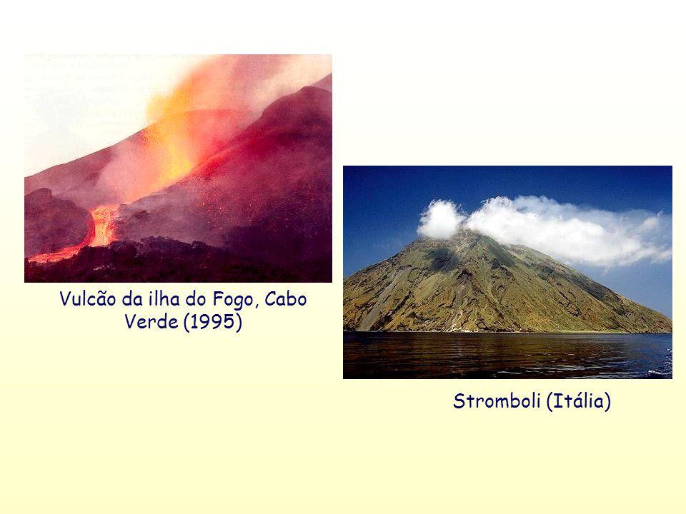 Vulcão da ilha do Fogo, Cabo Verde (1995) Stromboli (Itália)