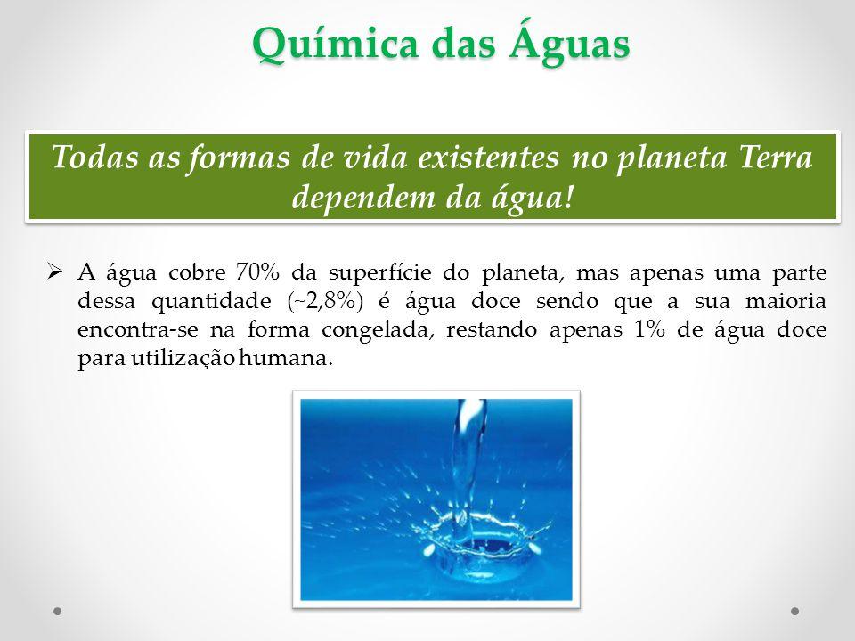 Química das Águas  Fluxo anual de água entre seus reservatórios global nos oceanos, o ar e abaixo do solo (em Km 3 ).