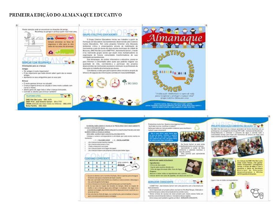 PRIMEIRA EDIÇÃO DO ALMANAQUE EDUCATIVO