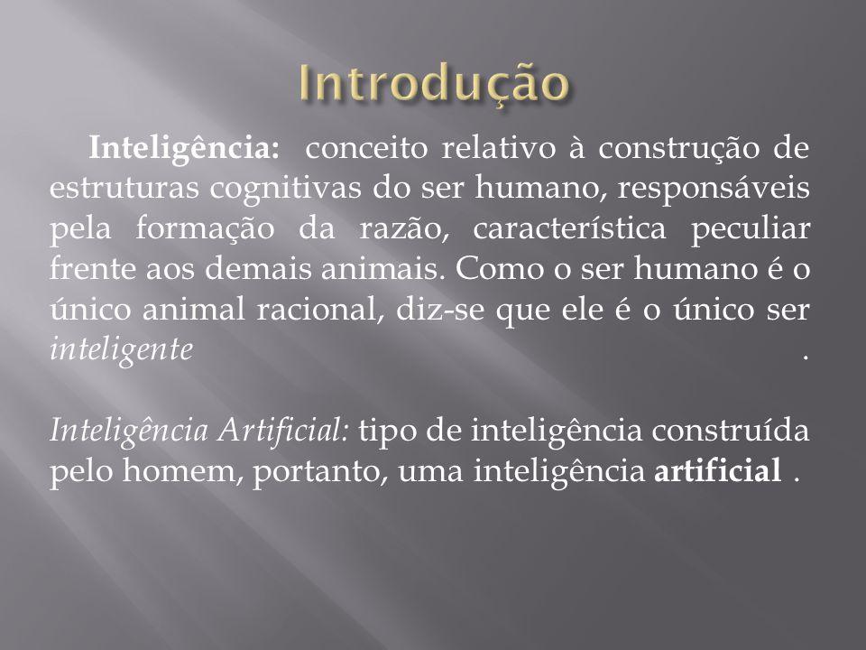 Inteligência: conceito relativo à construção de estruturas cognitivas do ser humano, responsáveis pela formação da razão, característica peculiar fren