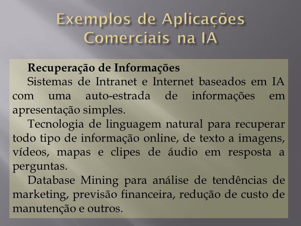 Recuperação de Informações Sistemas de Intranet e Internet baseados em IA com uma auto-estrada de informações em apresentação simples. Tecnologia de l