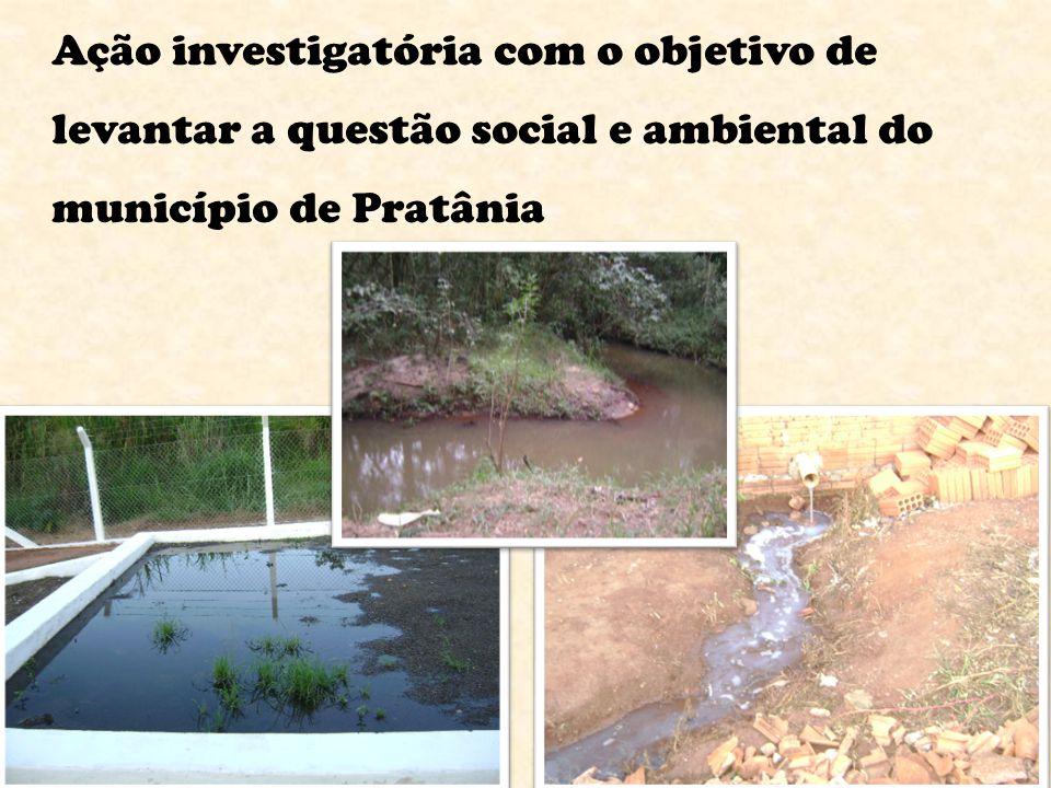 Ação investigatória com o objetivo de levantar a questão social e ambiental do município de Pratânia