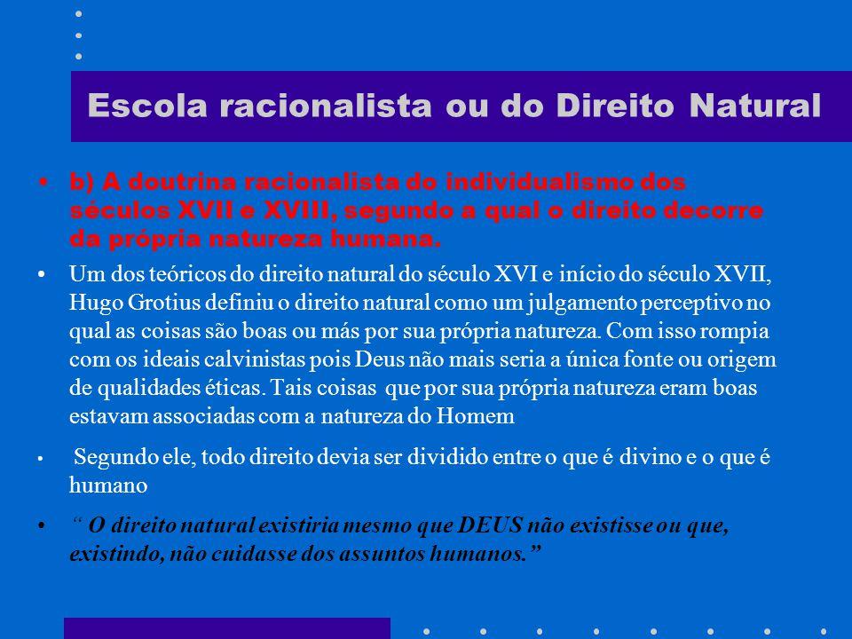 Escola racionalista ou do Direito Natural Segundo Santo Tomás de Aquino a ética consiste num agir de acordo com a natureza racional.