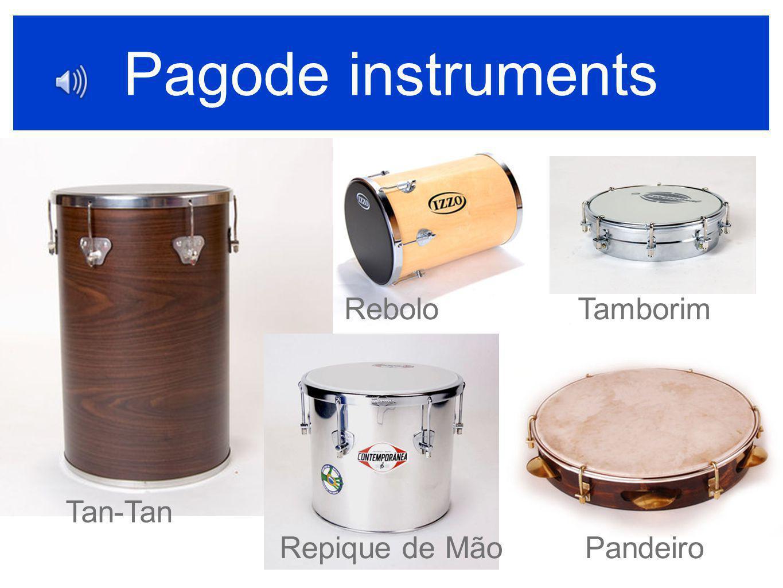 Pagode instruments Tan-Tan Rebolo Repique de Mão Tamborim Pandeiro