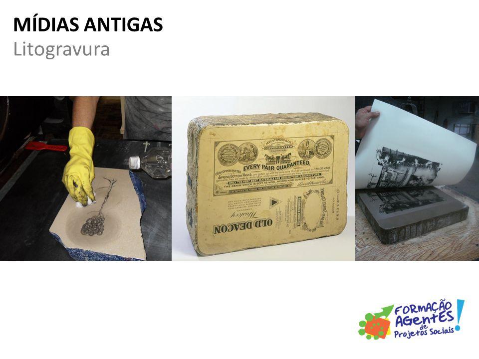 Litogravura MÍDIAS ANTIGAS