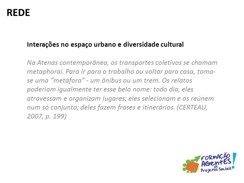 Interações no espaço urbano e diversidade cultural Na Atenas contemporânea, os transportes coletivos se chamam metaphorai.