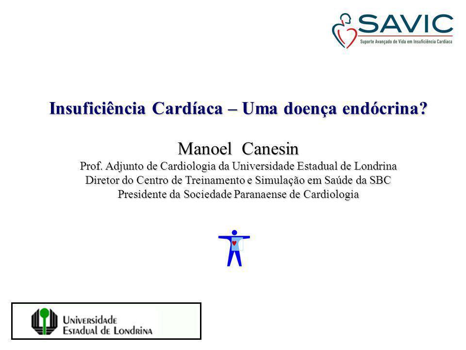 Insuficiência Cardíaca – Uma doença endócrina? Manoel Canesin Prof. Adjunto de Cardiologia da Universidade Estadual de Londrina Diretor do Centro de T