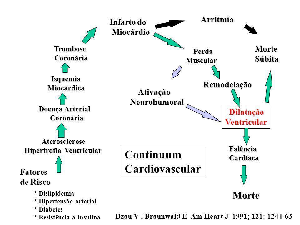 Fatores de Risco * Dislipidemia * Hipertensão arterial * Diabetes * Resistência a Insulina Aterosclerose Aterosclerose Hipertrofia Ventricular Doença