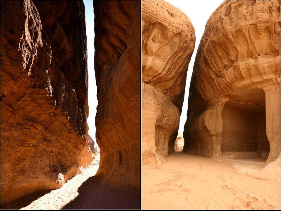 Todos seus traços arquitetónicos possuem de acabamento o estilo de Petra, e não falta até uma greta natural que não remeta à sua cidade irmã, ainda que de menores dimensões.