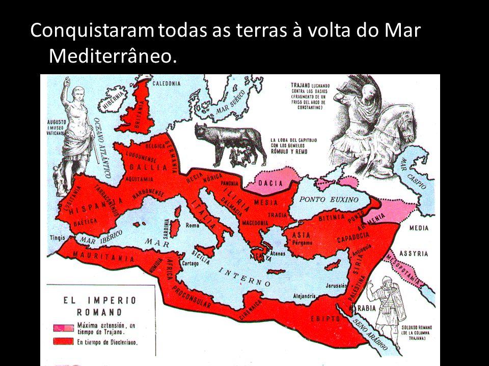 O Mar Mediterrâneo é um lago romano