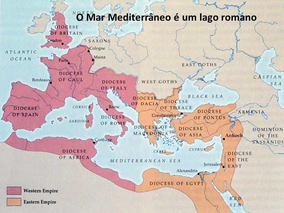 Descreve a forma como o Império Romano romanizou os povos conquistados Romanizar – ficar com a cultura romana - Doc.3 p.