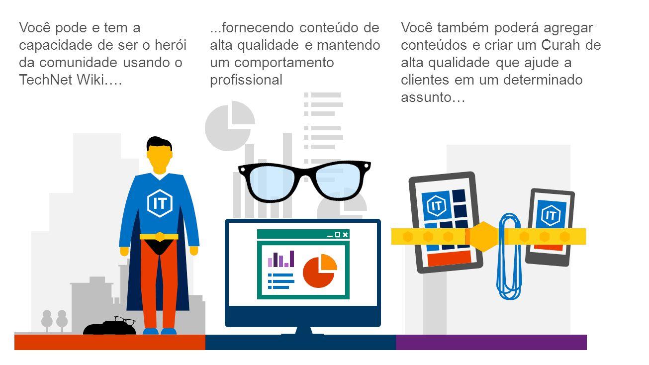 Você pode e tem a capacidade de ser o herói da comunidade usando o TechNet Wiki….