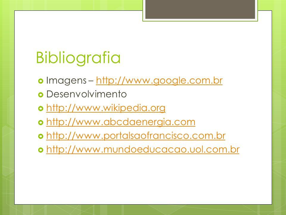 Bibliografia  Imagens – http://www.google.com.brhttp://www.google.com.br  Desenvolvimento  http://www.wikipedia.org http://www.wikipedia.org  http