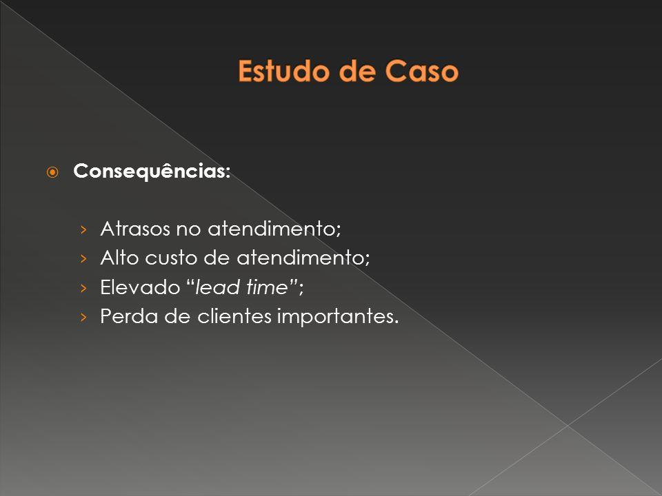 """ Consequências: › Atrasos no atendimento; › Alto custo de atendimento; › Elevado """"lead time""""; › Perda de clientes importantes."""