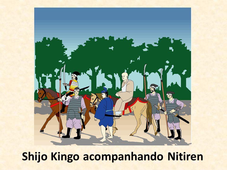 Shijo Kingo acompanhando Nitiren