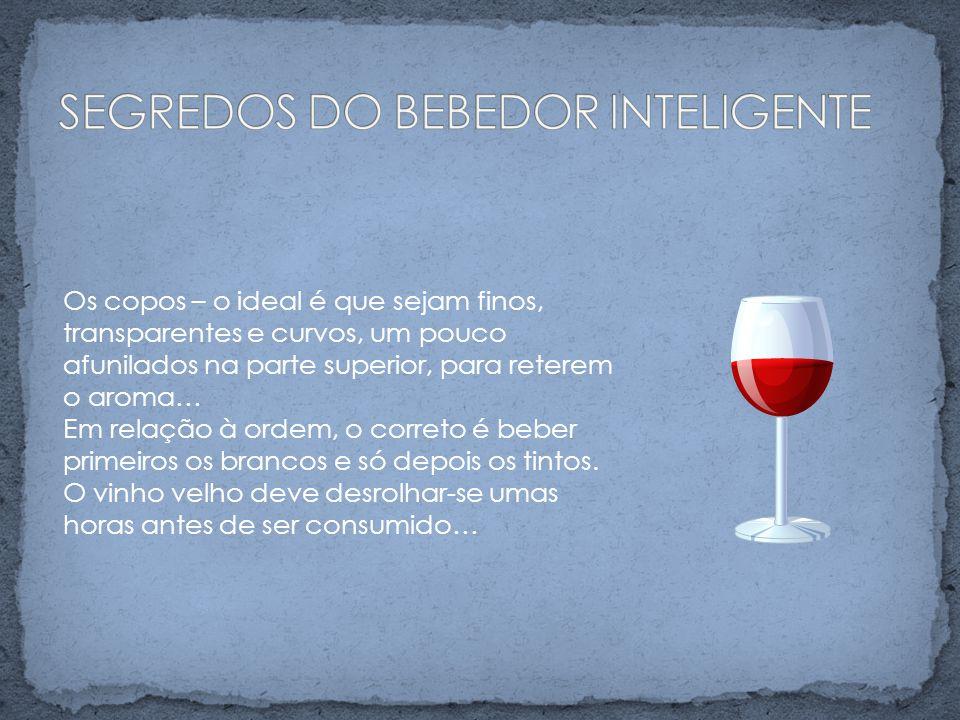 AFRUTADO - vinho cujo sabor recorda o da uva BOUQUET - aroma de um vinho CORPO - aplica-se a vinhos encorpados e de cor escura, que enchem o paladar