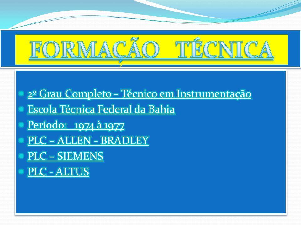 FORMAÇÃO TÉCNICA