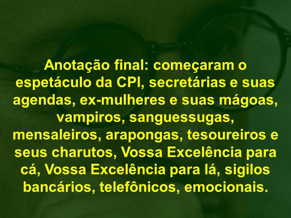 Por incrível que pareça, o Brasil continua, e a vontade de mudar é mais urgente do que em 2002 e 2006... Por isso, proponho agora um curto e eficaz tr