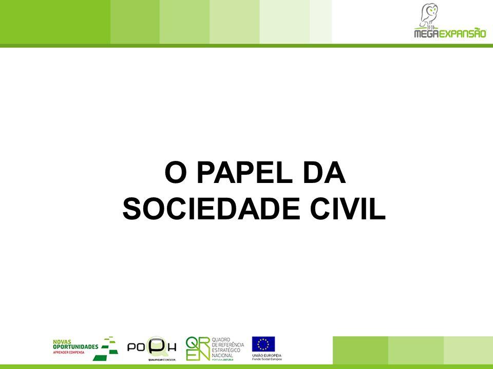  O conceito de sociedade civil refere-se à esfera de acções colectivas voluntárias em torno de interesses, propósitos e valores próprios.