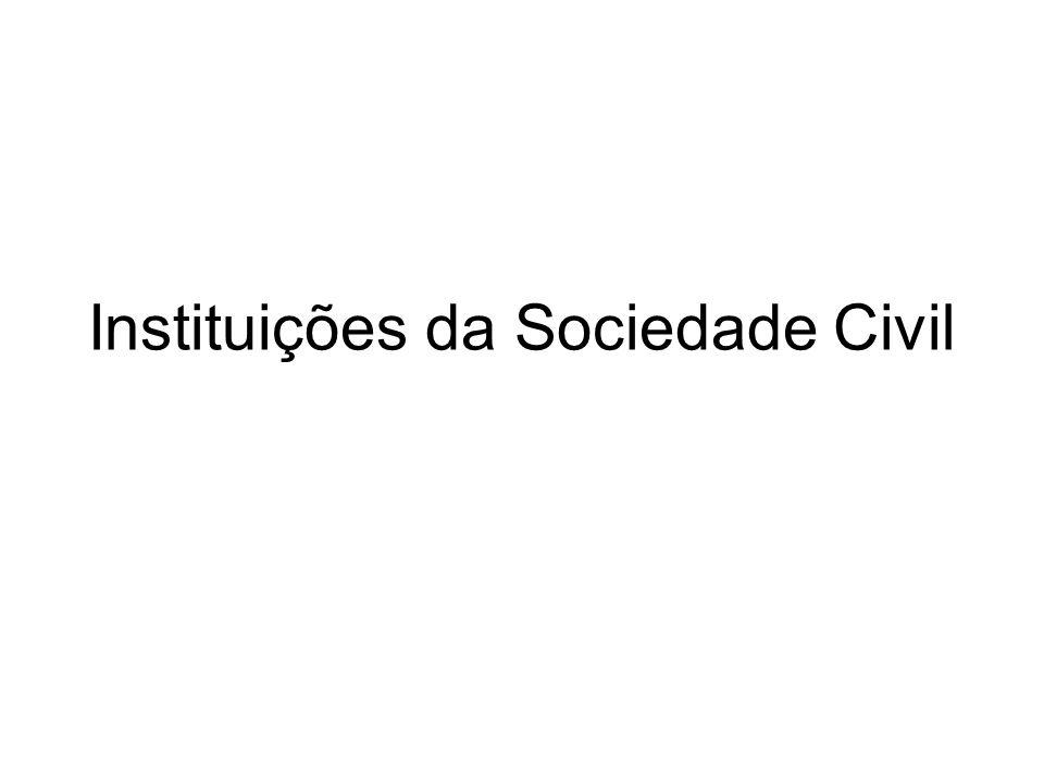 Instituições da Sociedade Civil