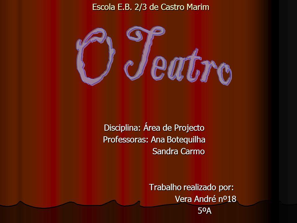 Disciplina: Área de Projecto Professoras: Ana Botequilha Sandra Carmo Sandra Carmo Trabalho realizado por: Trabalho realizado por: Vera André nº18 Ver