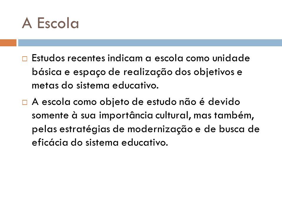 A Escola  Estudos realizados, sobretudo por Antonio Nóvoa, nos anos de 1960/1970, indicam a relação entre o funcionamento dos sistemas escolares e as desigualdades sociais.