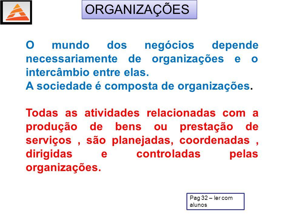 A sociedade moderna é uma sociedade de organizações.