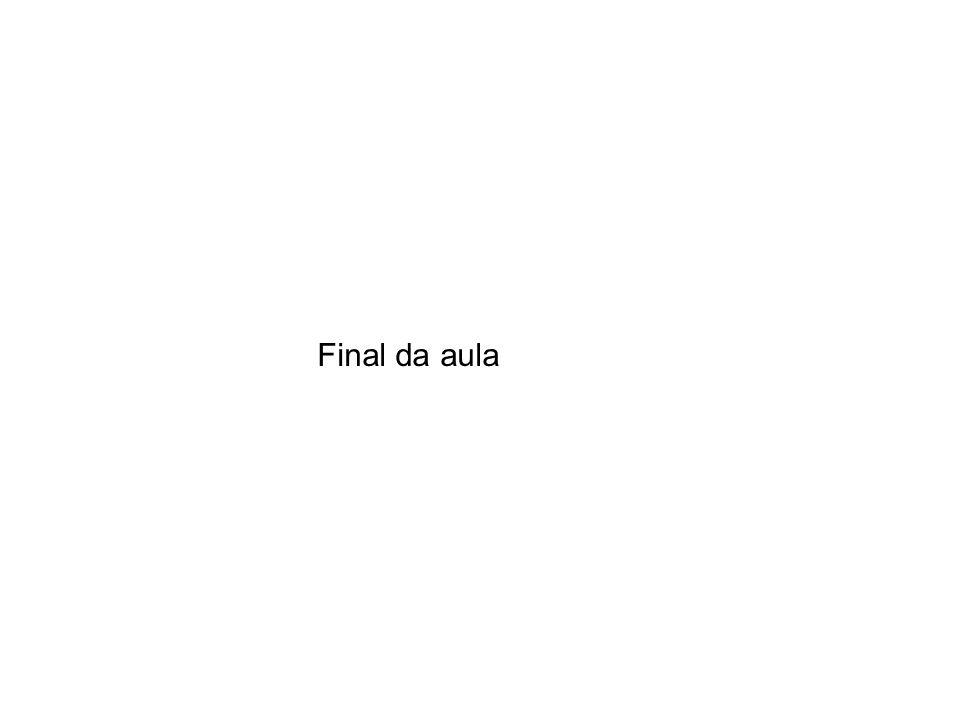 Final da aula