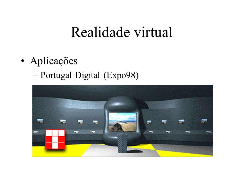 Realidade virtual Aplicações –Portugal Digital (Expo98)