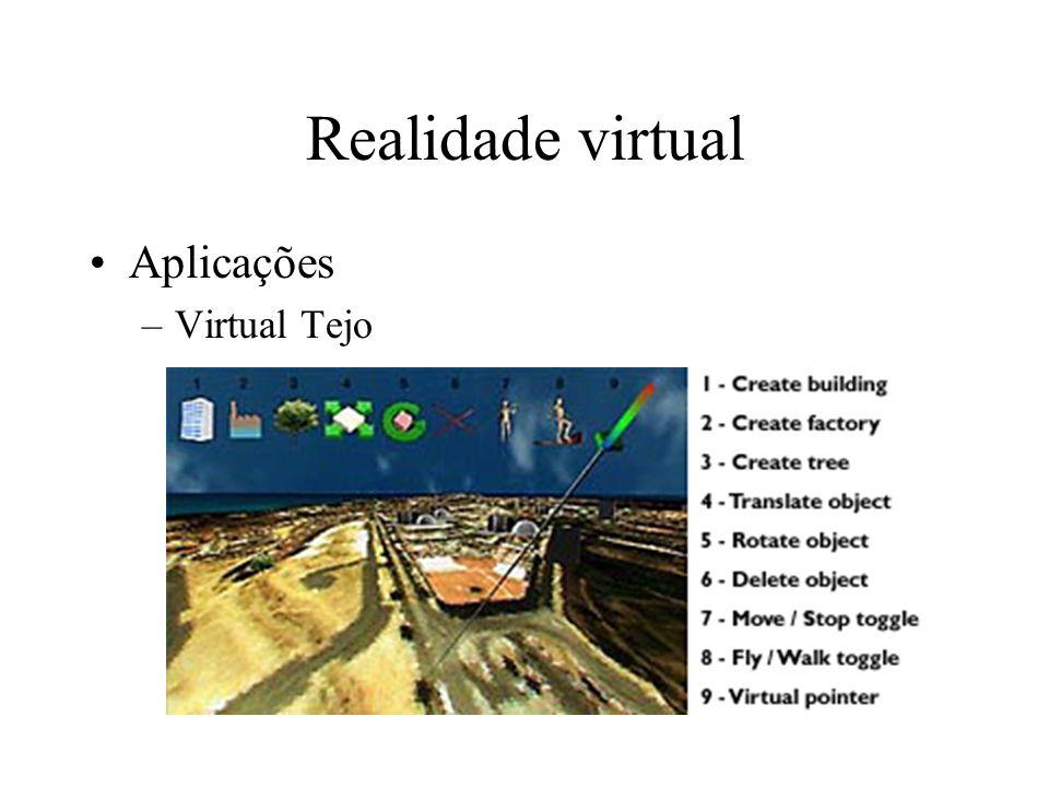 Realidade virtual Aplicações –Virtual Tejo