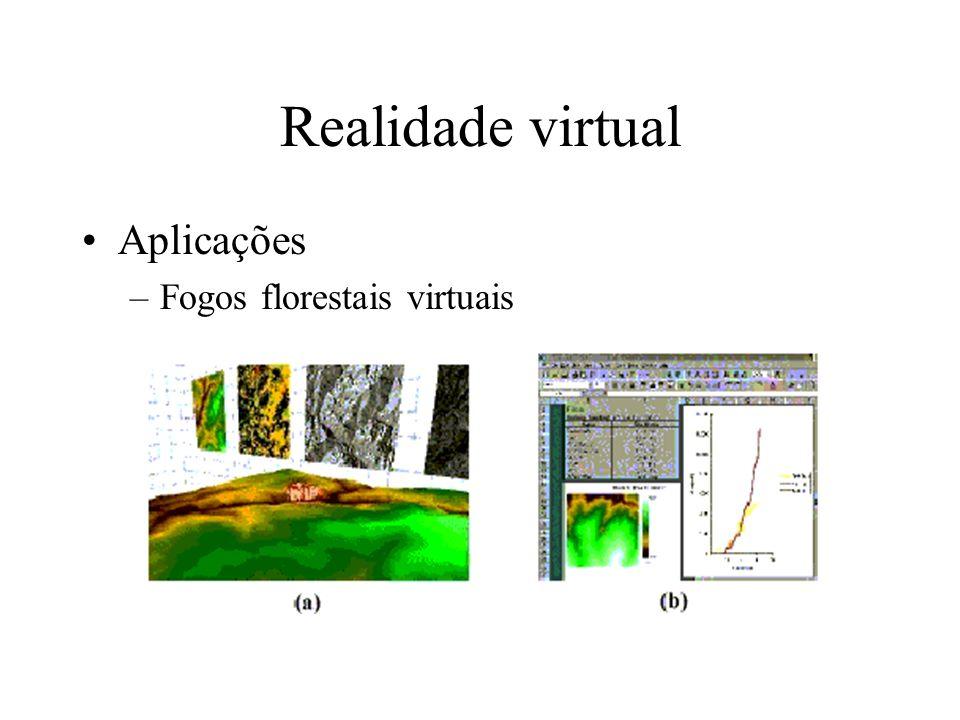 Realidade virtual Aplicações –Fogos florestais virtuais