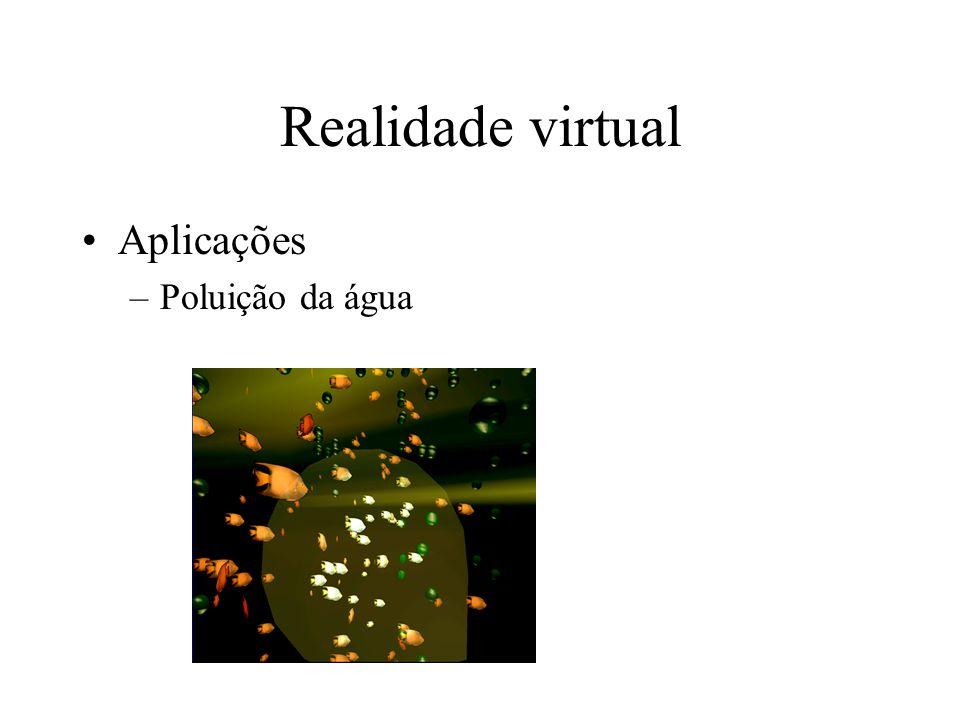 Realidade virtual Aplicações –Poluição da água