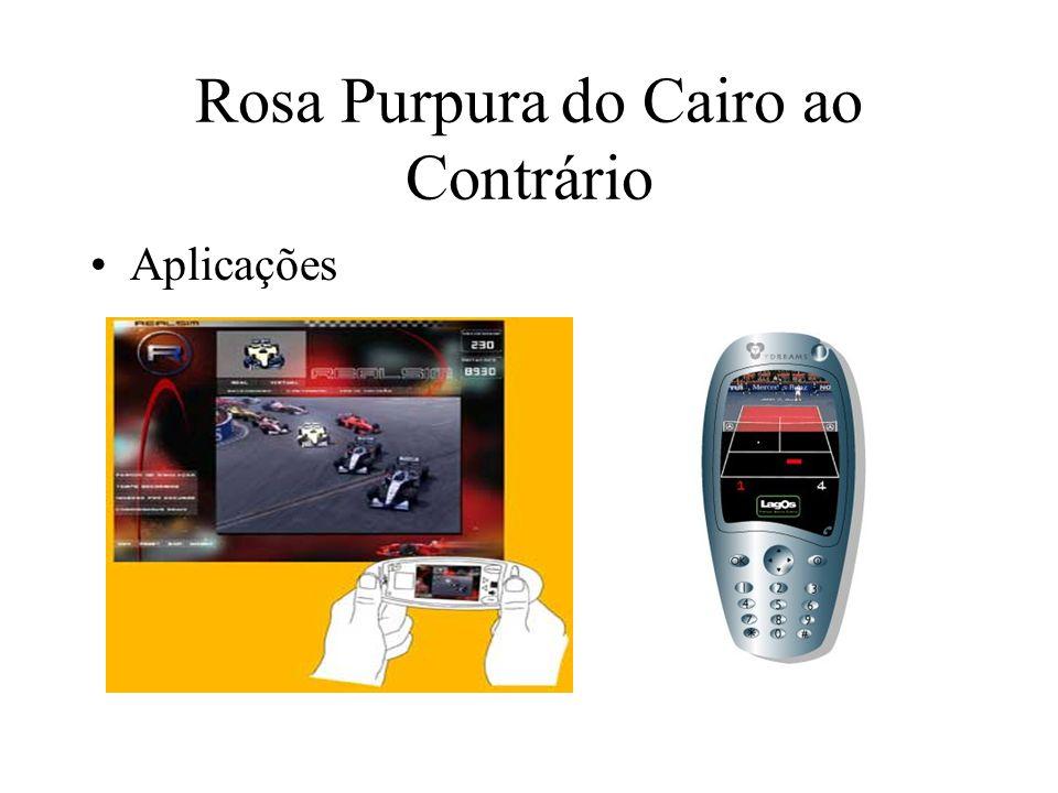 Rosa Purpura do Cairo ao Contrário Aplicações