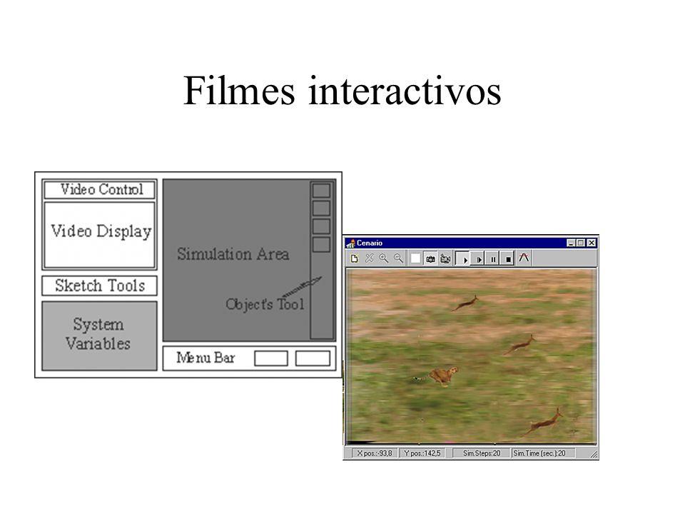 Realidade virtual –visualização de mundos em três dimensões em tempo real Realidade aumentada –sobreposição de imagens sintéticas sobre imagens reais Telepresença –visualização interactiva recorrendo a camaras remotas e robots http://www.hitl.washington.edu