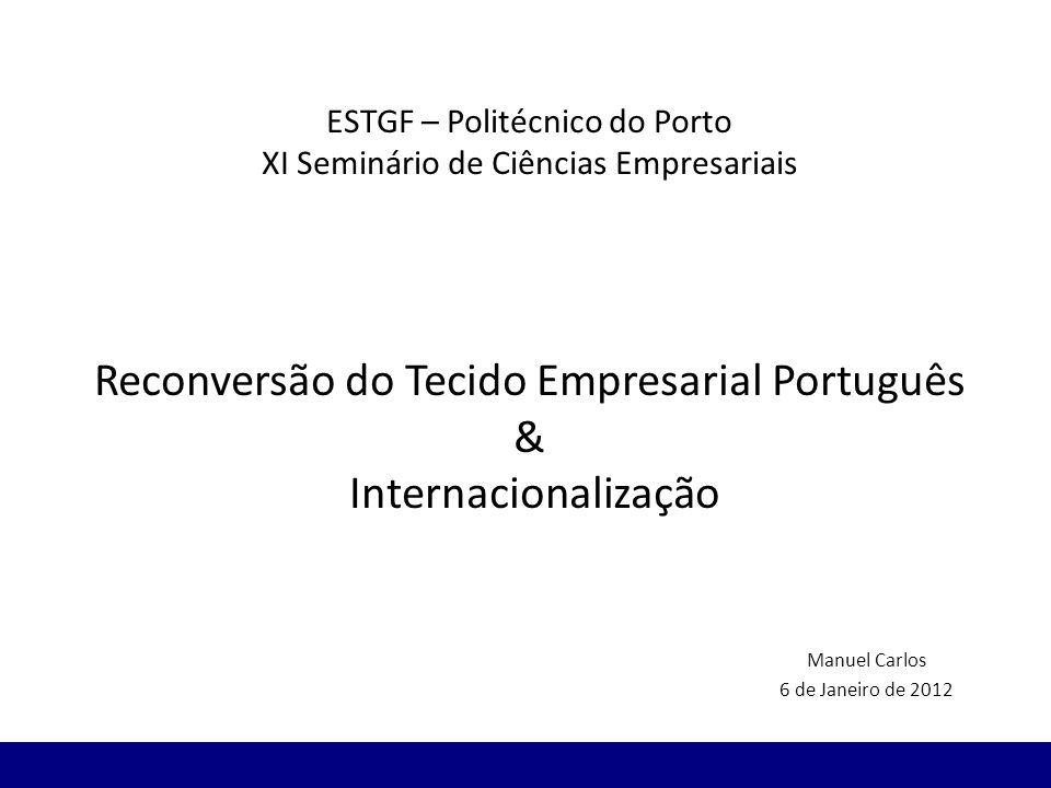 ESTGF – Politécnico do Porto XI Seminário de Ciências Empresariais Reconversão do Tecido Empresarial Português & Internacionalização Manuel Carlos 6 d