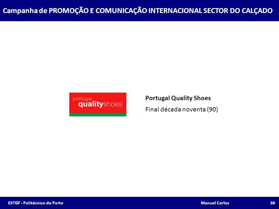 Portugal Quality Shoes Final década noventa (90) Campanha de PROMOÇÃO E COMUNICAÇÃO INTERNACIONAL SECTOR DO CALÇADO 38ESTGF - Politécnico do Porto Man