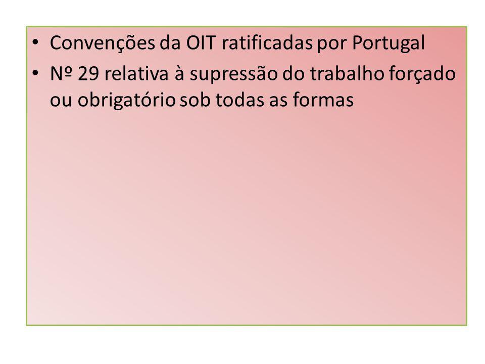Nº 29 relativa à supressão do trabalho forçado ou obrigatório sob todas as formas