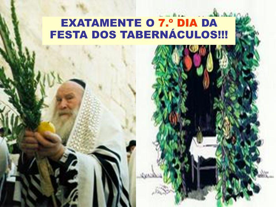EXATAMENTE O 7.º DIA DA FESTA DOS TABERNÁCULOS!!!