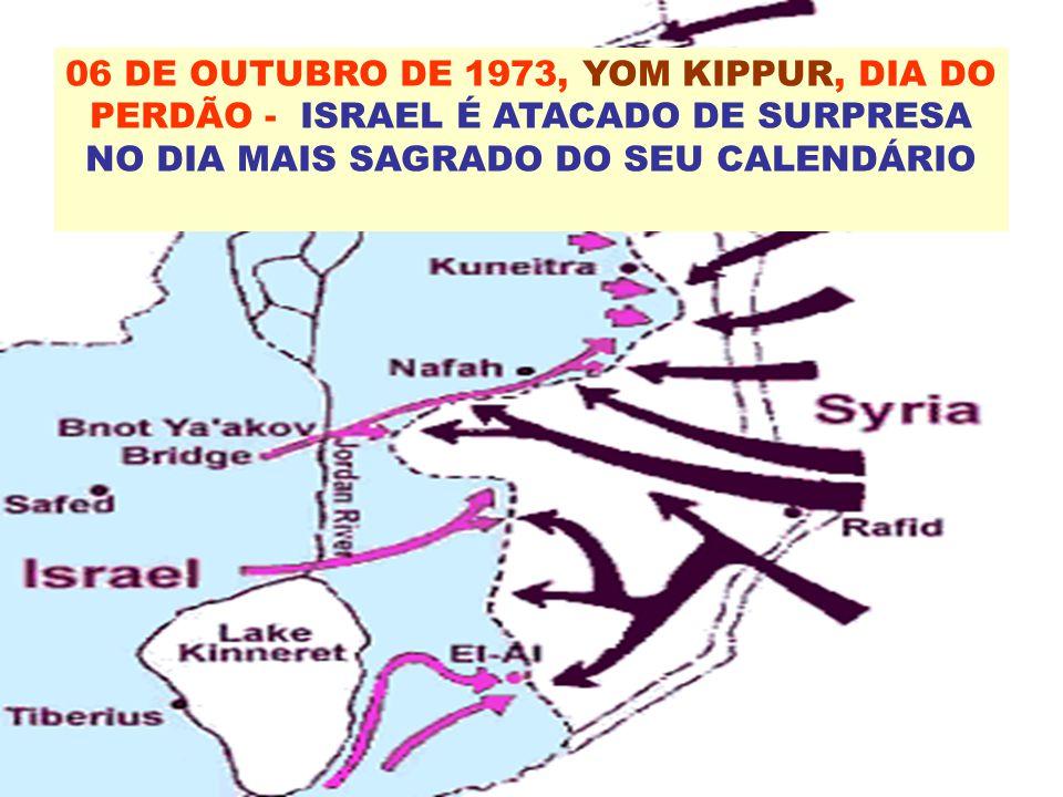 06 DE OUTUBRO DE 1973, YOM KIPPUR, DIA DO PERDÃO - ISRAEL É ATACADO DE SURPRESA NO DIA MAIS SAGRADO DO SEU CALENDÁRIO