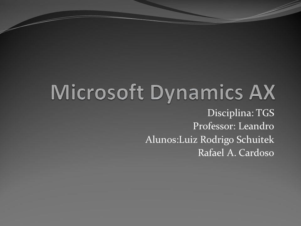 Apresentação O que é Dynamics AX .