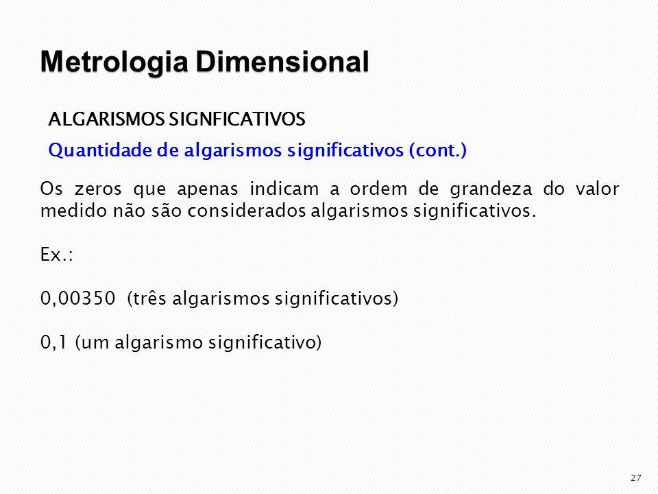 28 ALGARISMOS SIGNFICATIVOS Algarismos corretos e avaliados (interpolação) Imagine que você esteja realizando a medida de um comprimento de uma barra com uma régua cuja menor divisão é de 1 mm.